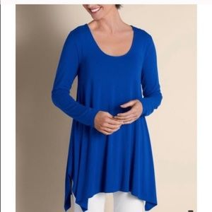 Soft Surroundings Timely Scoop Blue Medium